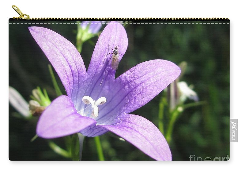 Blue Carry-all Pouch featuring the photograph Touchdown by Martin Howard