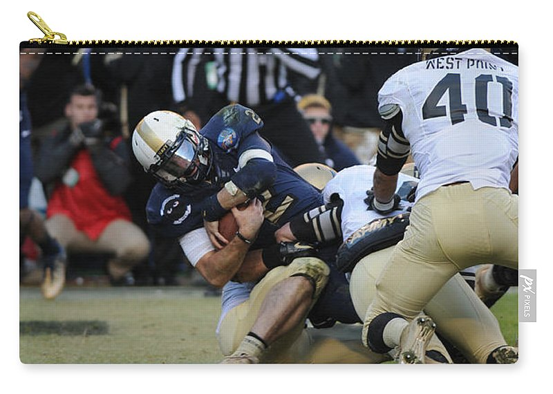 Football Carry-all Pouch featuring the photograph Touchdown Navy by Mountain Dreams