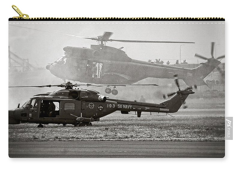 Agusta Westland Super Lynx 300 Carry-all Pouch featuring the photograph Touchdown by Paul Job