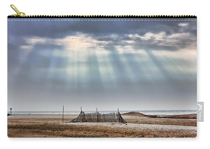 Beach Carry-all Pouch featuring the photograph Touched By Heaven by Sennie Pierson
