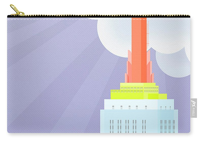 Empire State Building Vector Carry-all Pouch featuring the digital art Touching Heaven by Nishanth Gopinathan