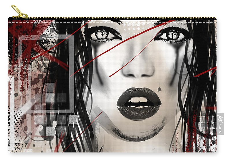 Woman Carry-all Pouch featuring the digital art Tough Love by Melissa Smith