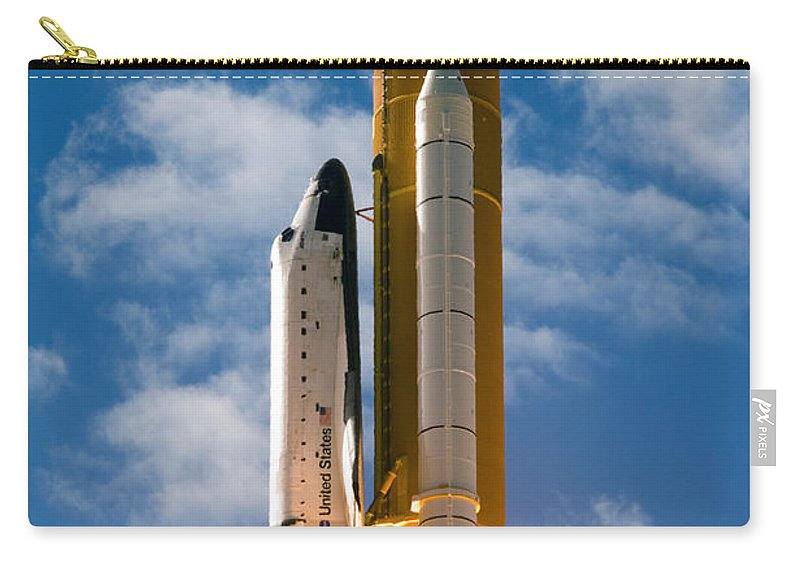 Space Carry-all Pouch featuring the photograph Towards Heaven by Ricky Barnard