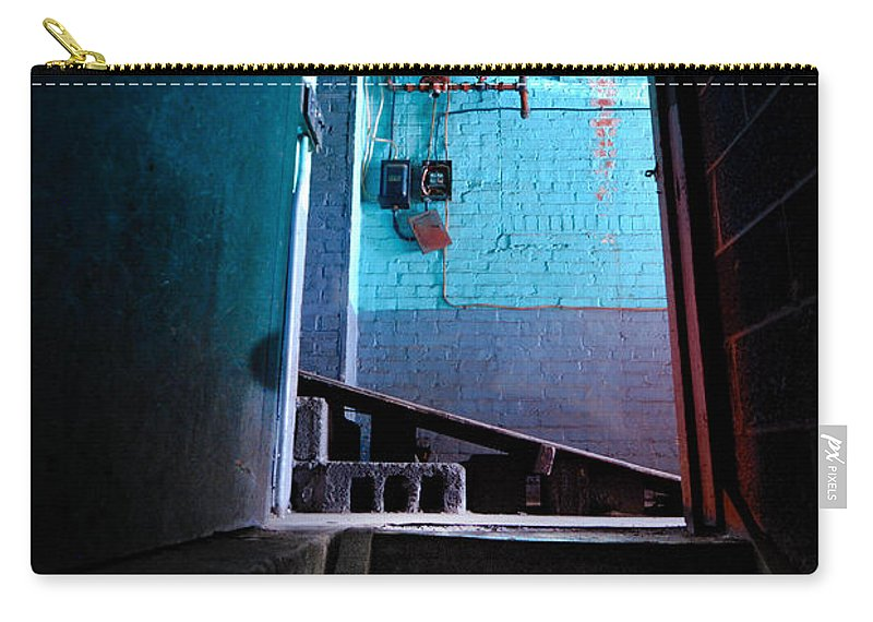 Basement Carry-all Pouch featuring the photograph Towards The Glow by Amy Cicconi
