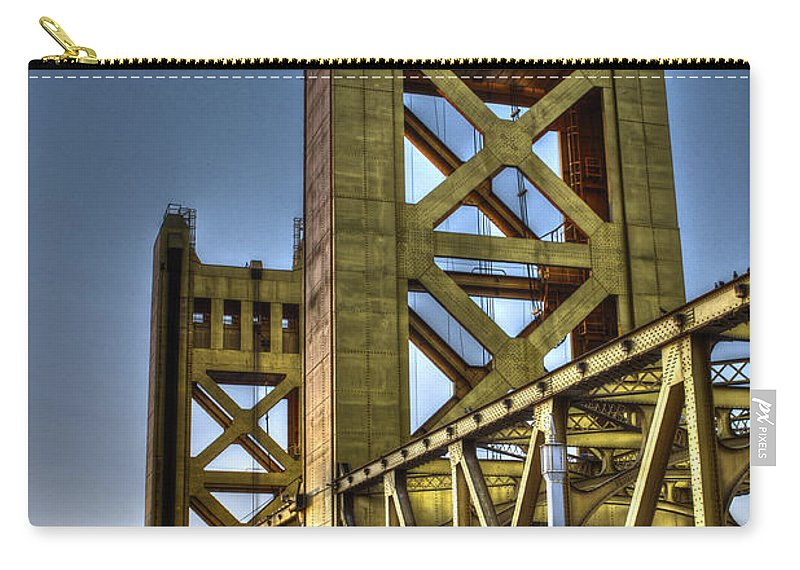 Bridge Carry-all Pouch featuring the photograph Tower Bridge 4 Sacramento by SC Heffner