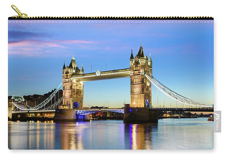 Downtown District Carry-all Pouch featuring the photograph Tower Bridge Located In London by Deejpilot