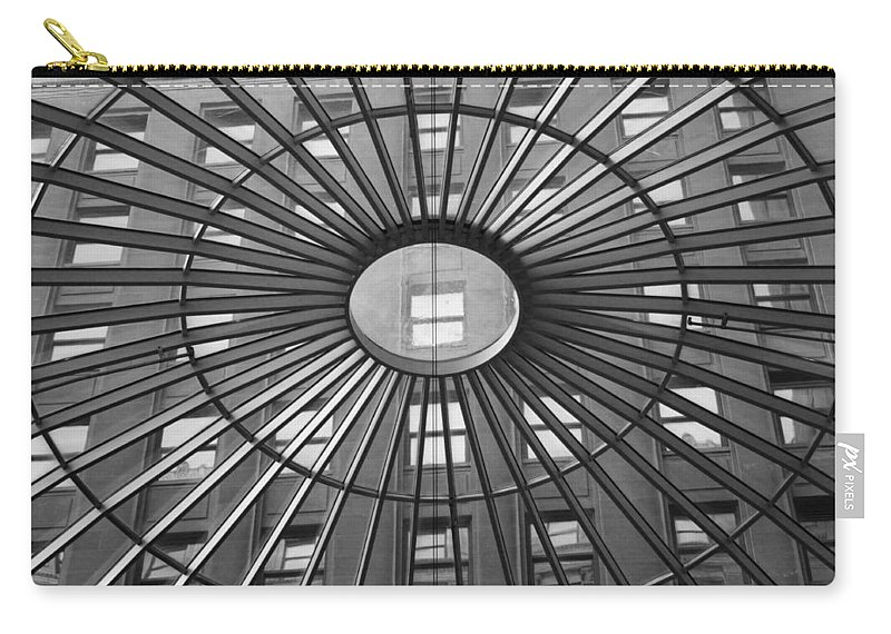 Tower City Center Carry-all Pouch featuring the photograph Tower City Center Architecture by Jenny Hudson