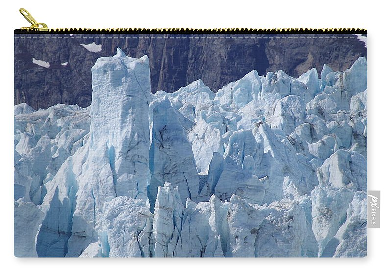 Margerie Glacier Carry-all Pouch featuring the photograph Tower In Margerie Glacier by Mike Wheeler