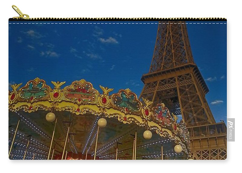 Mark J Dunn Carry-all Pouch featuring the photograph Carousel Tower by Mark J Dunn