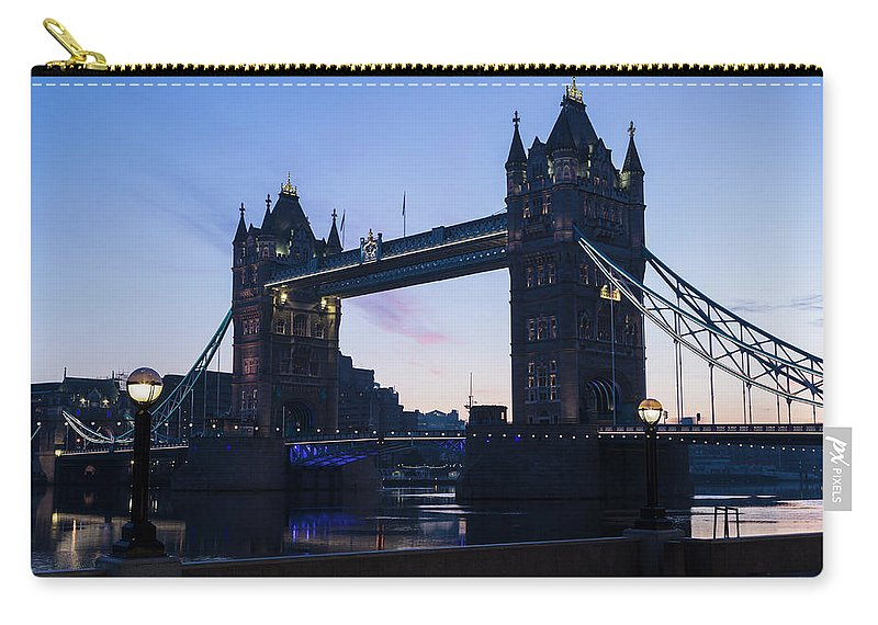 English Culture Carry-all Pouch featuring the photograph Tower Of London At Dawn by P A Thompson