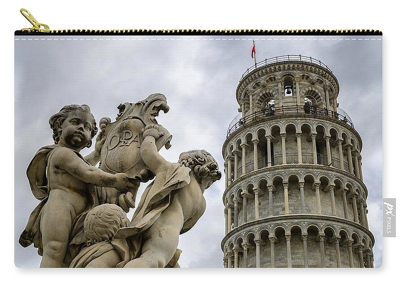 Tower Carry-all Pouch featuring the photograph Tower Of Pisa by Pablo Lopez