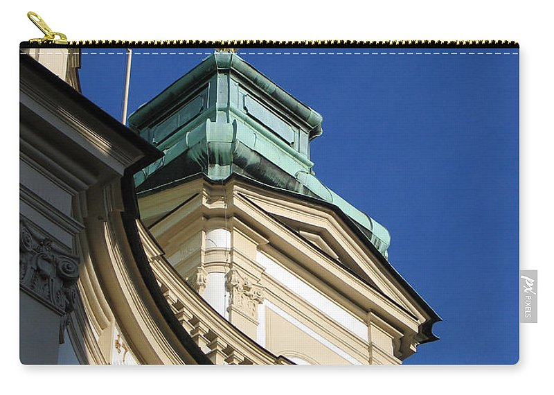 Tower Carry-all Pouch featuring the photograph Tower Vienna Austria by Jason O Watson