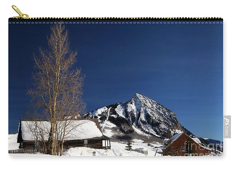 Crested Butte Carry-all Pouch featuring the photograph Towering Above Crested Butte by Adam Jewell