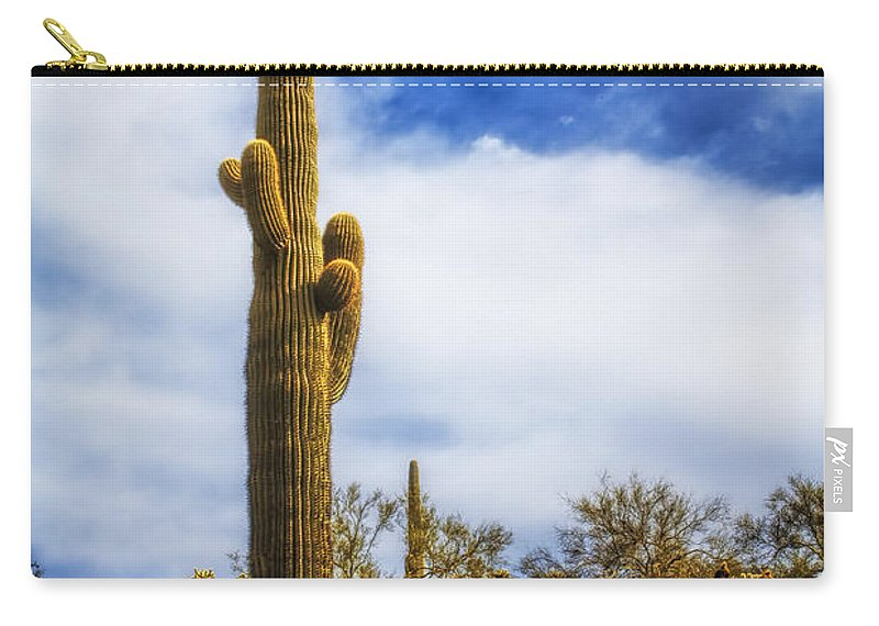 Fred Larson Carry-all Pouch featuring the photograph Towering Saguaro by Fred Larson