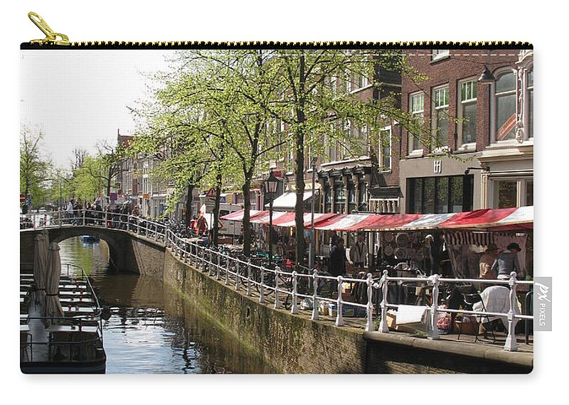 Town Canal Carry-all Pouch featuring the photograph Town Canal - Delft by Christiane Schulze Art And Photography