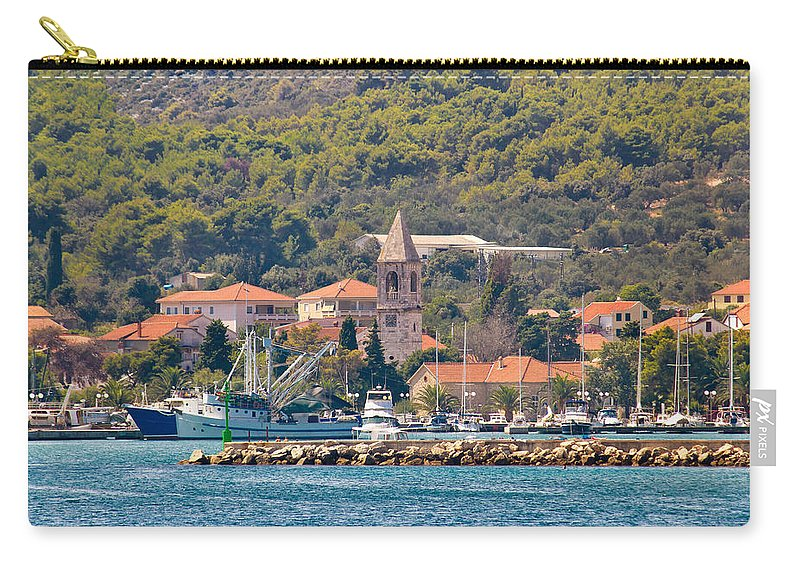 Croatia Carry-all Pouch featuring the photograph Town Of Kukljica On Ugljan Island by Brch Photography