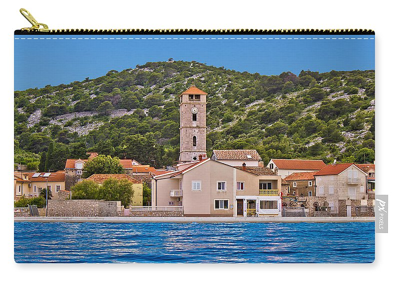 Croatia Carry-all Pouch featuring the photograph Town Of Tisno Waterfront Croatia by Brch Photography