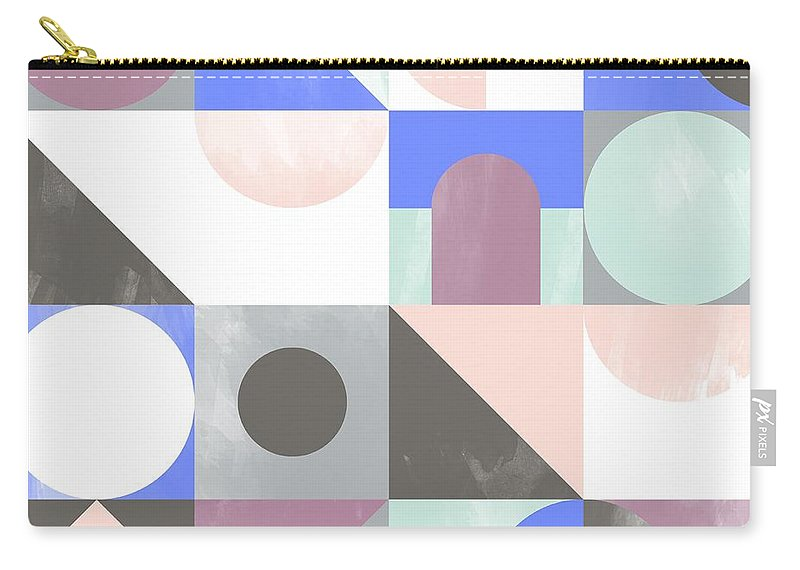 Pattern Carry-all Pouch featuring the painting Toy Blocks by Laurence Lavallee