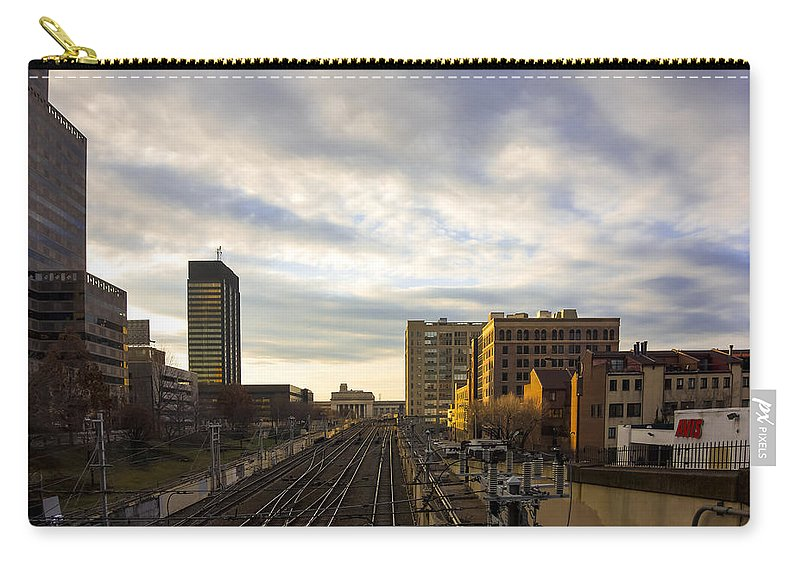 Tracks Carry-all Pouch featuring the photograph Tracks Philadelphia by David Stone