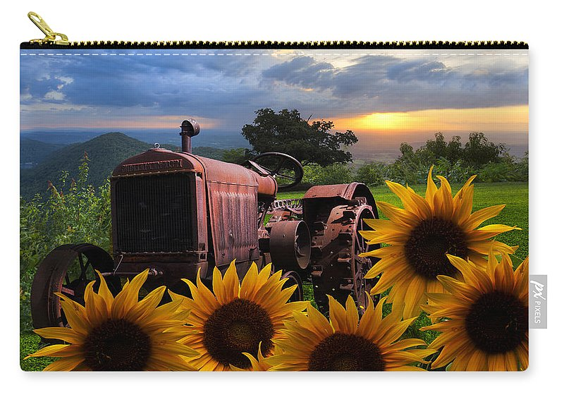 Appalachia Carry-all Pouch featuring the photograph Tractor Heaven by Debra and Dave Vanderlaan