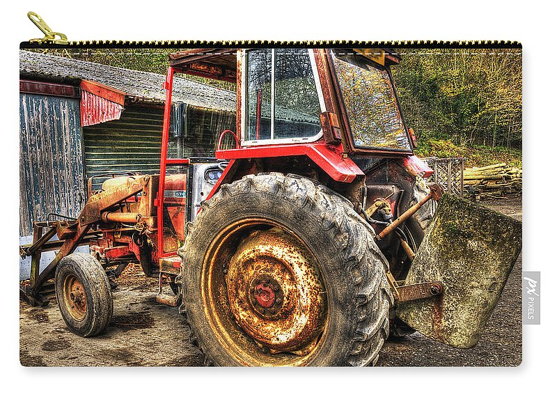Tractor Carry-all Pouch featuring the photograph Tractor by Svetlana Sewell