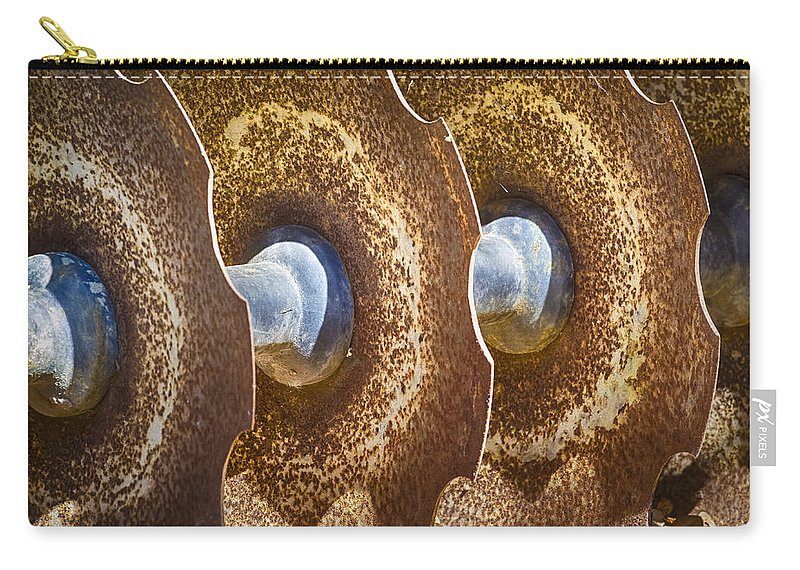 Blades Carry-all Pouch featuring the photograph Tractor Tilling Blades by Carolyn Marshall