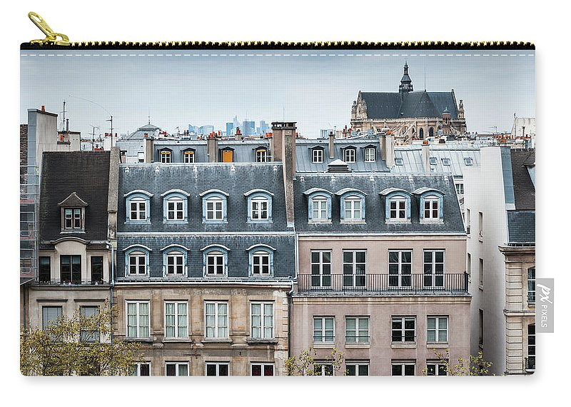 Built Structure Carry-all Pouch featuring the photograph Traditional Buildings In Paris by Mmac72