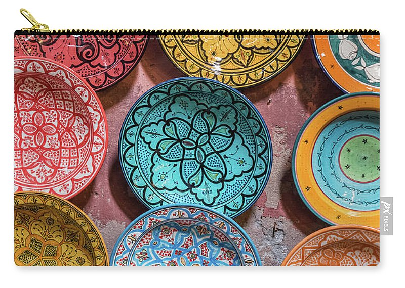 Art Carry-all Pouch featuring the photograph Traditional Ceramic Moroccan by Guyberresfordphotography