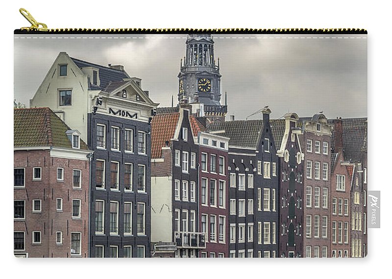 In A Row Carry-all Pouch featuring the photograph Traditional Dutch Houses Over A Canal by Buena Vista Images
