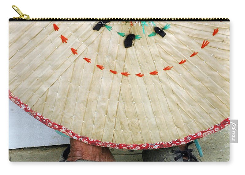 Accessory Carry-all Pouch featuring the photograph Traditional Woven by Antoni Halim
