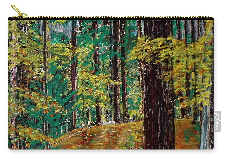 New Hampshire Carry-all Pouch featuring the pastel Trail At Wason Pond by Sean Connolly