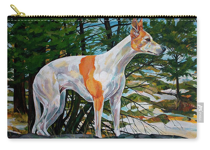 Whippet Carry-all Pouch featuring the painting Trailblazer by Derrick Higgins