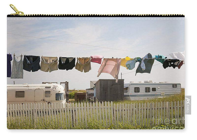 Trailers Carry-all Pouch featuring the photograph Trailers In North Rustico by Elena Elisseeva
