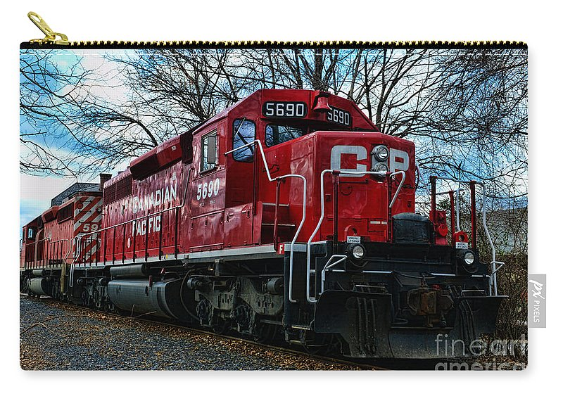 Paul Ward Carry-all Pouch featuring the photograph Train - Canadian Pacific 5690 by Paul Ward
