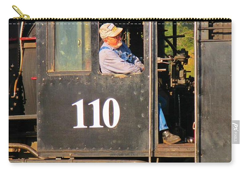 Train Art Carry-all Pouch featuring the photograph Train Conductor by John Malone