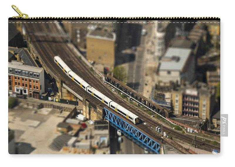 London Carry-all Pouch featuring the photograph Train In London by Dutourdumonde Photography