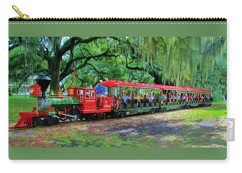 Train Carry-all Pouch featuring the photograph Train - New Orleans City Park by Deborah Lacoste