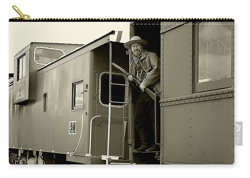 Transportation Carry-all Pouch featuring the photograph Train Robber by Marcia Colelli