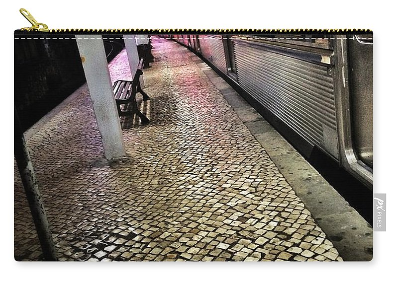 Evening Carry-all Pouch featuring the photograph Train Station by Carlos Caetano