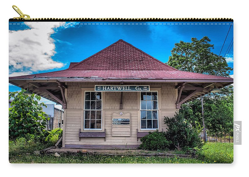 Train Carry-all Pouch featuring the photograph Train Station by Lynne Jenkins