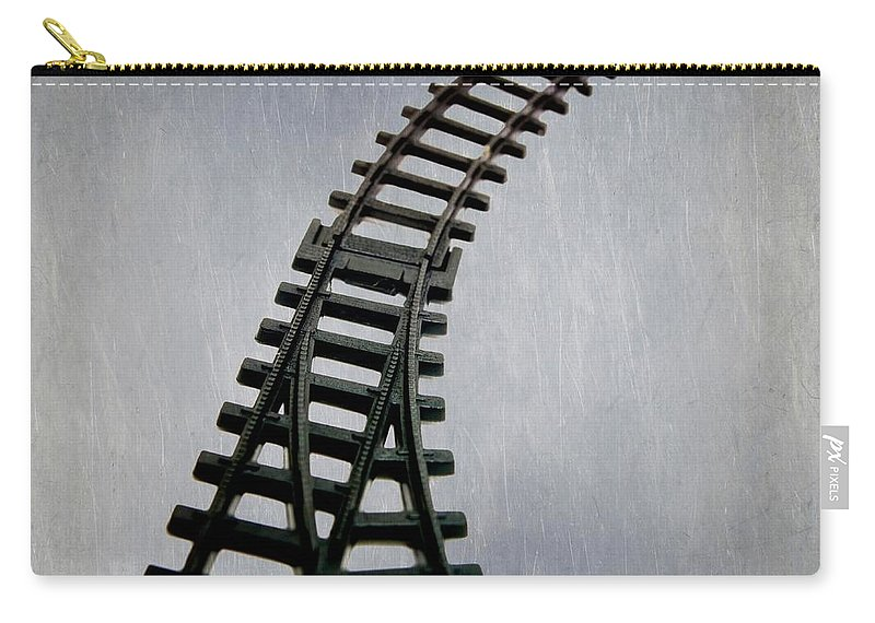 Childhood Carry-all Pouch featuring the photograph Train Tracks by Bernard Jaubert