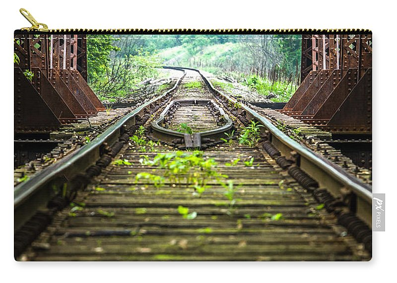 Train Tracks Carry-all Pouch featuring the photograph Train Trestle 2 by David Johnson