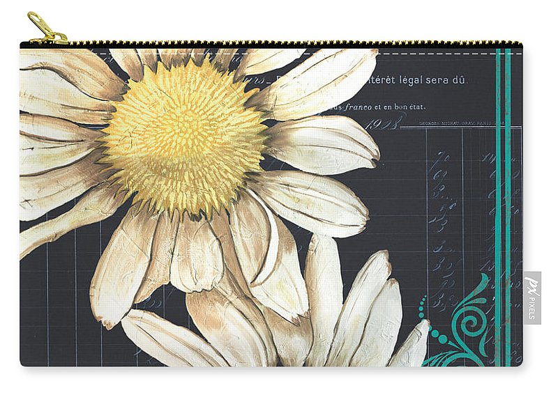 Daisy Carry-all Pouch featuring the painting Tranquil Daisy 1 by Debbie DeWitt