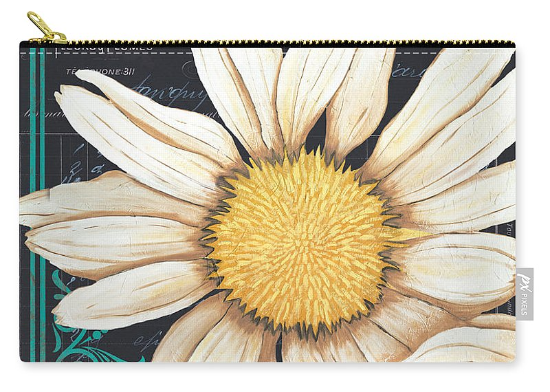 Daisy Carry-all Pouch featuring the painting Tranquil Daisy 2 by Debbie DeWitt