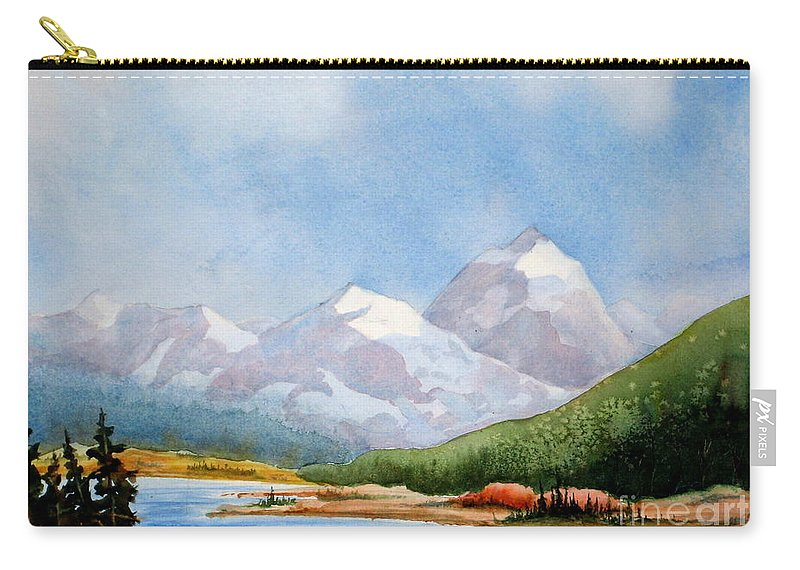 Alpine Carry-all Pouch featuring the painting Tranquil by Mohamed Hirji