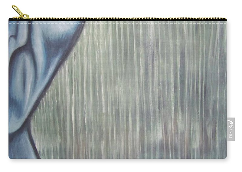 Tmad Carry-all Pouch featuring the painting Tranquil Rain by Michael TMAD Finney