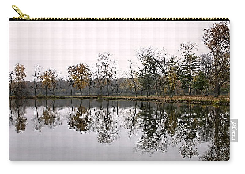 Lake Carry-all Pouch featuring the photograph Tranquil Reflections by Ely Arsha