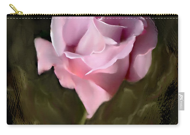Rose Carry-all Pouch featuring the photograph Tranquil Rose by Bonnie Willis