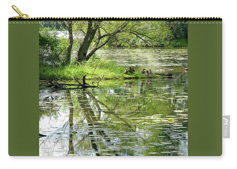 Reflection Carry-all Pouch featuring the photograph Tranquility by Ann Horn
