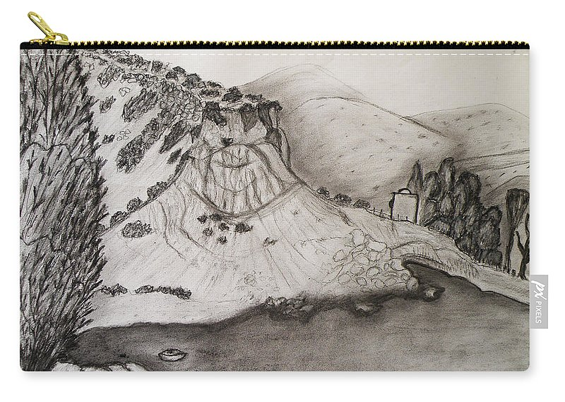 Tranquility Carry-all Pouch featuring the drawing Tranquility by Augusta Stylianou